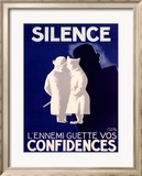 Silence Framed Giclee Print by Paul Colin