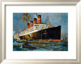 Aquitania Framed Giclee Print by Odin Rosenvinge