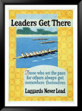 Leaders Get There Indrammet giclee-tryk