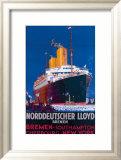 Norddeutscher Llyod Bremen Framed Giclee Print by H.h. Rodmel