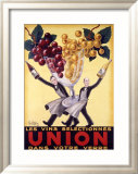 Les Vins Selectionnes Union Gerahmter Gicl&#233;e-Druck von Robys (Robert Wolff) 