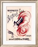 Mistinguett/Bonjour Paris Reproduction giclée encadrée par Charles Gesmar