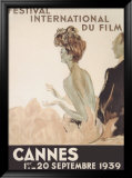 Festival International du Film, Cannes, 1939 Framed Giclee Print by Jean-Gabriel Domergue