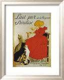 Lait pur sterilize Framed Giclee Print by Théophile Alexandre Steinlen