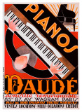 Pianos Daude Giclee Print by Andre Daude