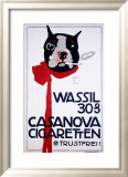 Casanova Cigarette Terrier Framed Giclee Print