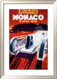 Grand Prix de Monaco, 1930 Gerahmter Giclée-Druck von Robert Falcucci