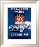 Grand Prix de Paris, 24 Avril 1949 Framed Giclee Print by Geo Ham