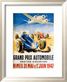Grand Prix Automobile Nimes Framed Giclee Print by Geo Ham
