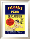 Palisades Amusement Park Framed Giclee Print
