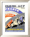 Grand Prix de l&#39;A.C.F., 1935 Framed Giclee Print by Geo Ham