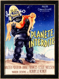 Planete Interdite Framed Giclee Print by Roger Soubie