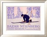 Bazar Nurnberg Framed Giclee Print by Carl Kunst