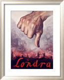 Londra, Italian Fascist Propaganda Kehystetty giclee-vedos