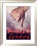 Londra, Italian Fascist Propaganda Framed Giclee Print