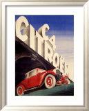 Citroen C4 Automobile Framed Giclee Print