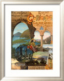 Tour Ireland Connemira Mgw Railway Framed Giclee Print by Hugo D&#39;Alesi
