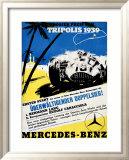 Tripolis 1939, Mercedes Benz Reproduction giclée encadrée