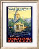 Pennsylvania Railroad, Washington D.C. Framed Giclee Print by Grif Teller
