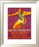 Mather - Feeling Fit Motivational Zarámovaná digitálně vytištěná reprodukce