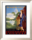 Pennsylvania Railroad, Washington Framed Giclee Print by Edward M. Eggleston
