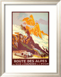 Route Des Alpes Poster by Julien Lacaze