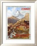 Schweizer Alpen, Zermatt, Matterhorn Gerahmter Giclée-Druck von Anton Reckziegel