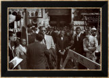 Malcom X, Gabe Pressman and Louis Farrahkan Affischer av Klytus Smith