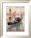 Venice, Italy, Gondola Framed Giclee Print by Hugo D&#39;Alesi
