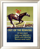 Out of the Running Framed Giclee Print