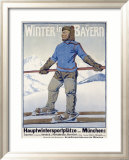 Winter in Bayern Framed Giclee Print by Erler 