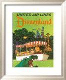 United Airlines: Disneyland in Anaheim, California, c.1960's Inramat gicléetryck av Stan Galli