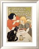 Compagnie Francaise des Chocolats et Thes Reproduction giclée encadrée par Théophile Alexandre Steinlen