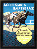 A Good Start Is Half the Race Lámina giclée enmarcada por Frank Mather Beatty