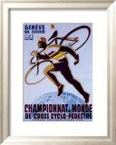 Championnat du Monde de Cross Cyclo-Pedestre Indrammet giclee-tryk af Noel Fontanet
