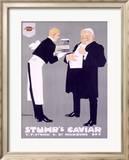 Stuhr's Caviar Framed Giclee Print by Ludwig Hohlwein