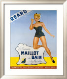 Reard le Premier Maillot de Bain Framed Giclee Print