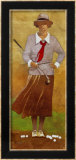 Vintage Woman Golfer Art by Bart Forbes