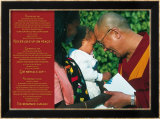 Dalai Lama: Never Give Up on Peace Poster