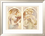 Fruits and Flowers Framed Giclee Print by Alphonse Mucha