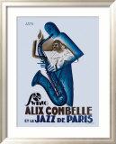 Alix Combelle, Jazz Paris Indrammet giclee-tryk af Paul Colin