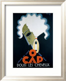 O Cap-Trockenshampoo Gerahmter Giclée-Druck von Charles Loupot