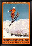 Chamonix, Mont Blanc Plakaty autor Alo (Charles-Jean Hallo)