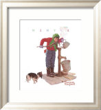 Chilling Chore Prints by Norman Rockwell