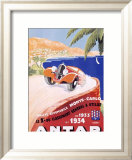 Antar Motor Oil Monte Carlo Rallye Indrammet giclee-tryk af M. Pecnard