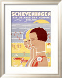 Scheveningen Framed Giclee Print by Louis Christian Kalff