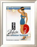 Perfecta Swimwear Beach Framed Giclee Print