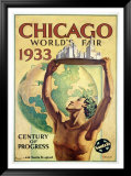 World's Fair, Chicago, c.1933 Framed Giclee Print by Hernando Villa