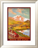 Route Des Alpes Art by René Péan