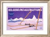 Bilgeri, Ski Ausrustung Framed Giclee Print by Carl Kunst
